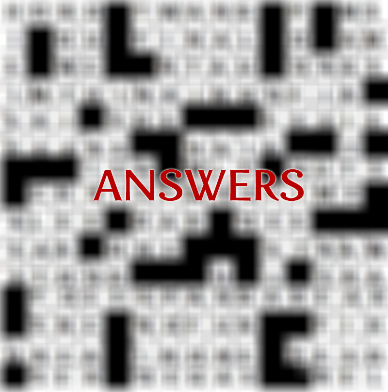 Issue 3 Crossword Answers
