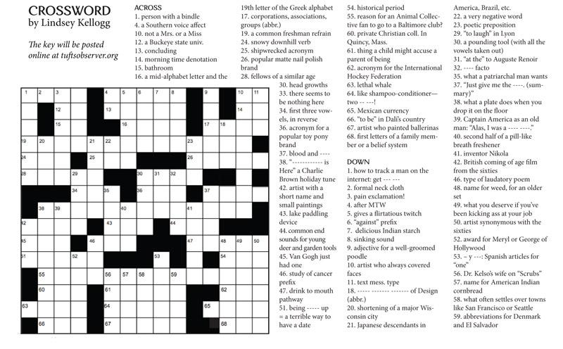Issue 3 Crossword
