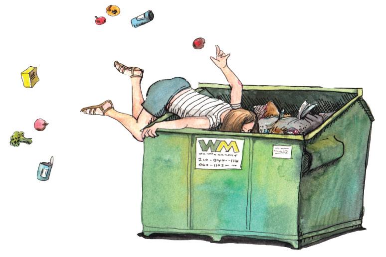 A Dumpster's Spoils